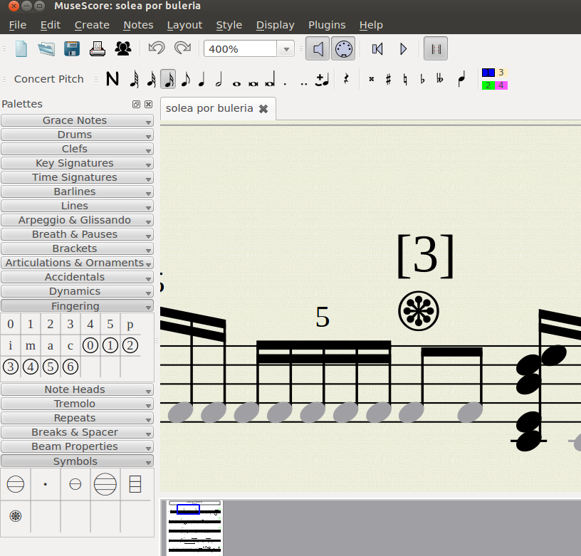 musescore how to add pedal