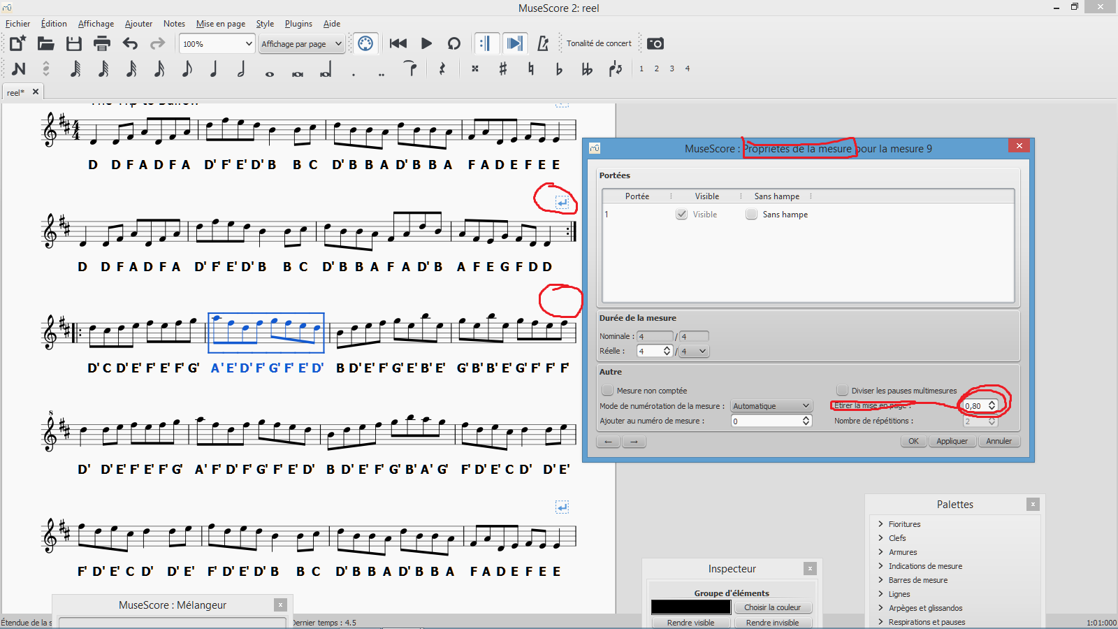 how to delete a measure musescore