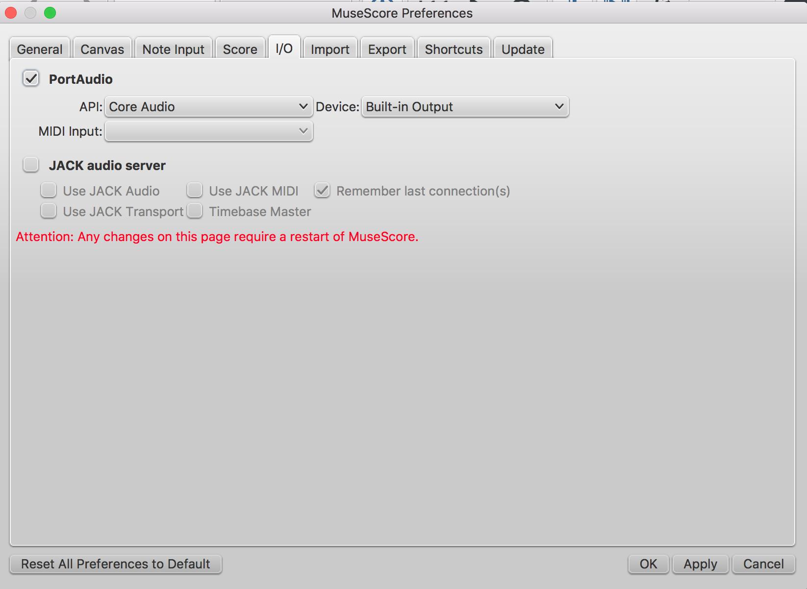 No sound on my new Mac Book | MuseScore