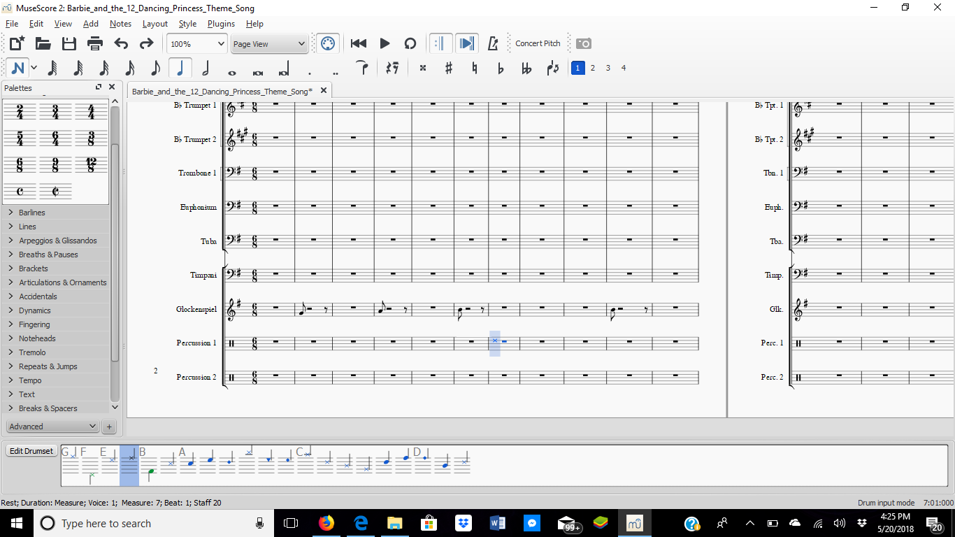 Problem adding percussion parts with Musescore 2 0 | MuseScore