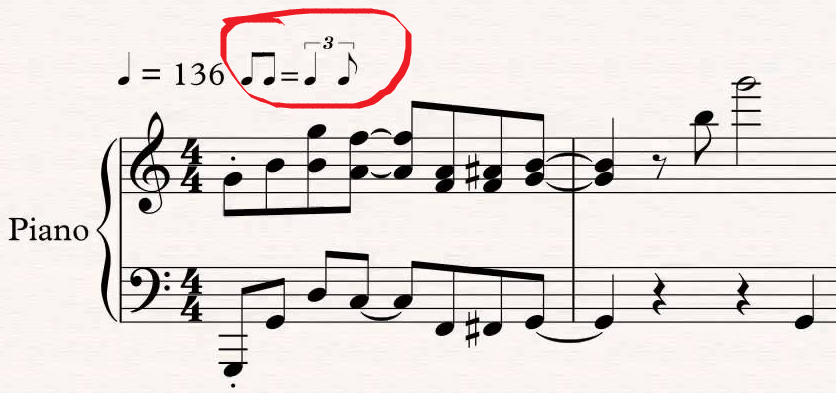 Treat pairs of eighth notes as triplet with quarter and