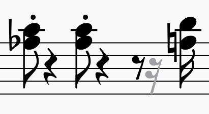 Faded rest symbols | MuseScore
