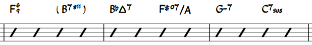 Jazz akkoordsymbolen