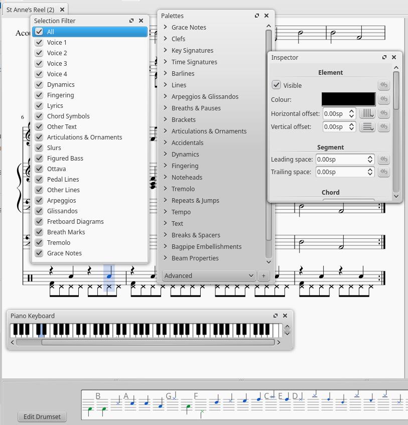 Drum input palette   MuseScore