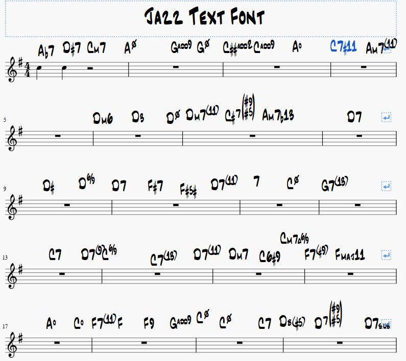 JazzCord Font   MuseScore