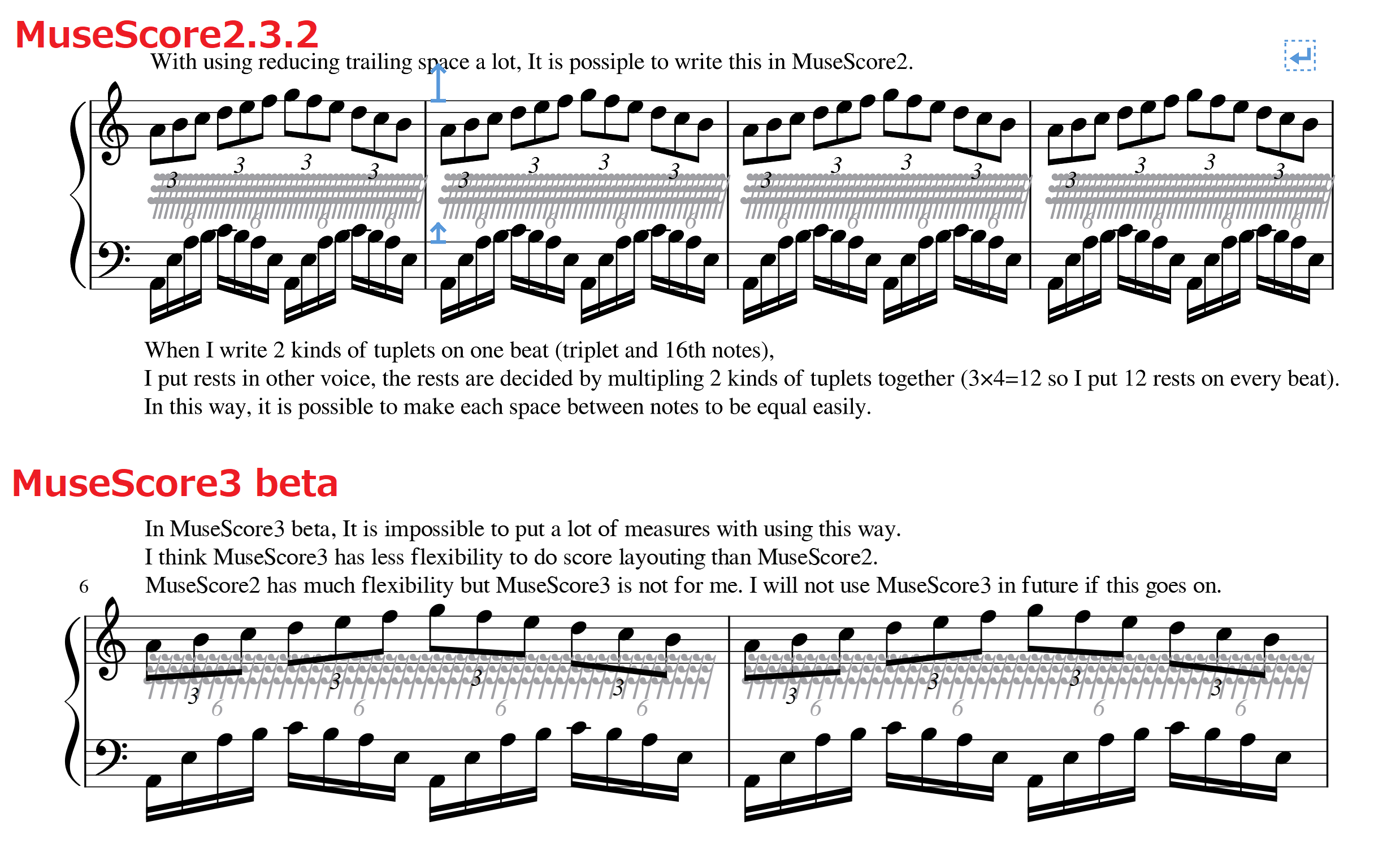 Note spacing in MuseScore3 is worse than MuseScore2  | MuseScore