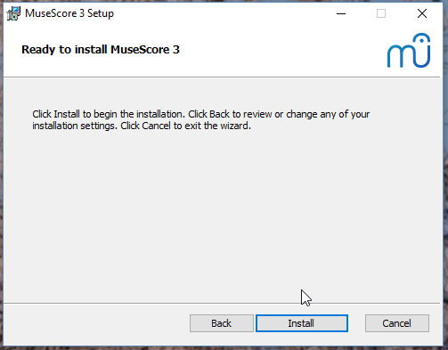 Ready to install MuseScore 3