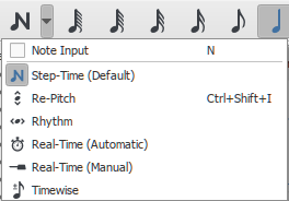 Note input modes