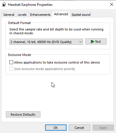 No Audio: Synthesizer menu item greyed out, PortAudio