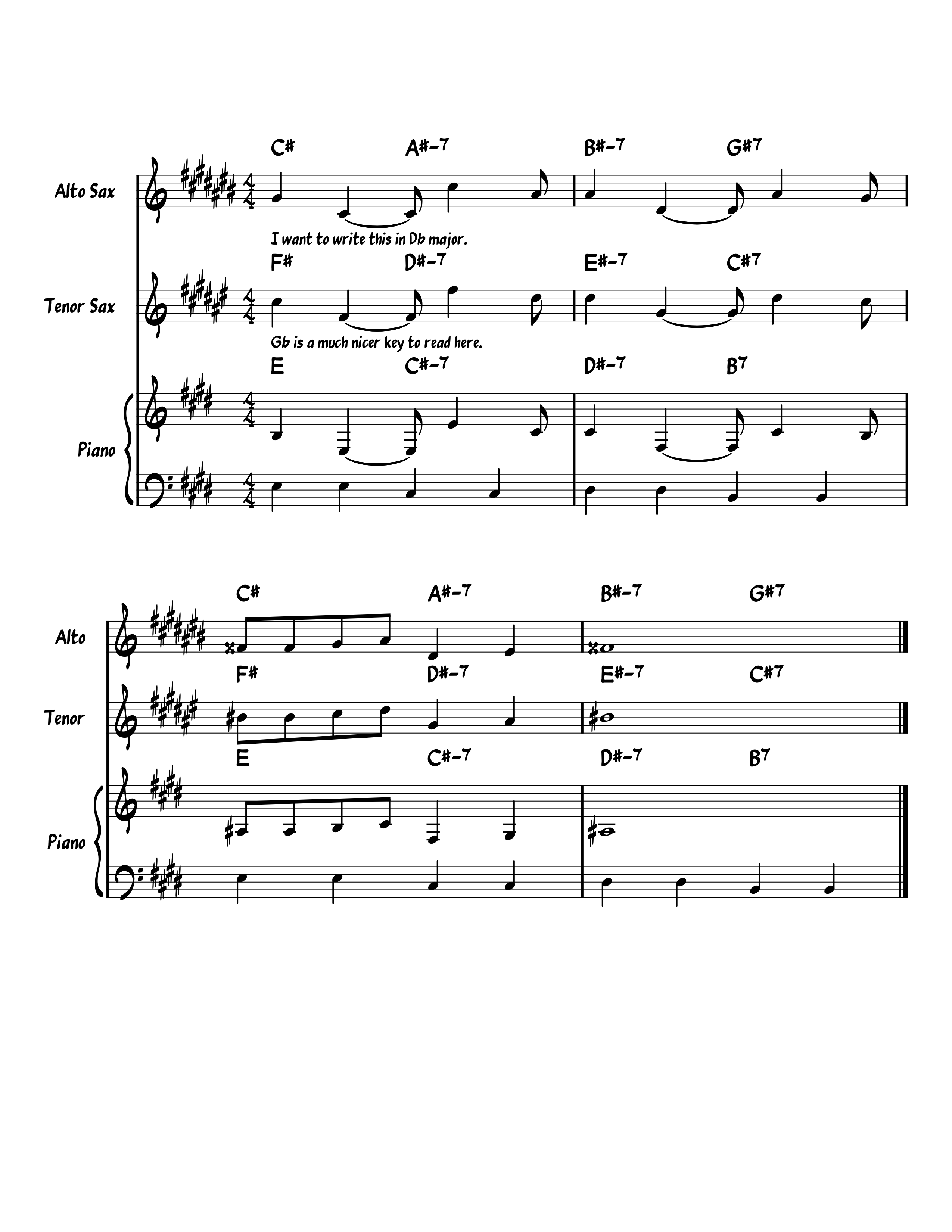 Ability to switch to enharmonic key signature for