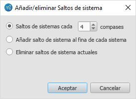 Añadir/Eliminar Saltos de sistema