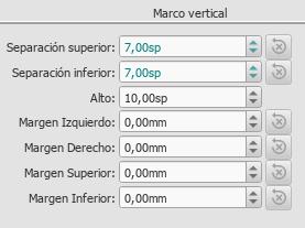 Marco vertical en el Inspector