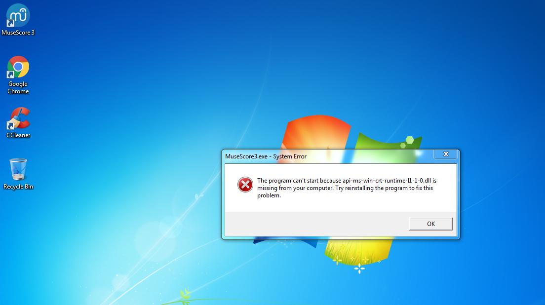 Musescore 3 crashing on Windows 7   MuseScore