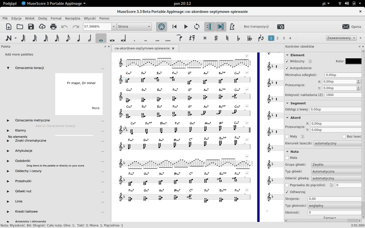 Empty Palettes in 3 3 0-beta   MuseScore