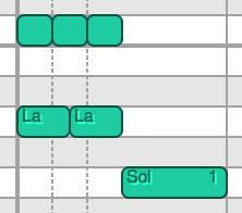 Divisions irrégulières dans l'éditeur de Piano Roll