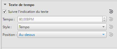 Inspector: Tempo Text