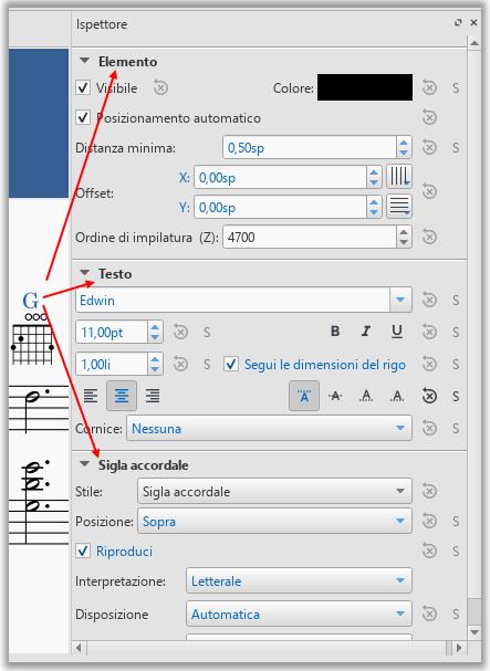 Sigla accordale generata da diagramma per tastiera