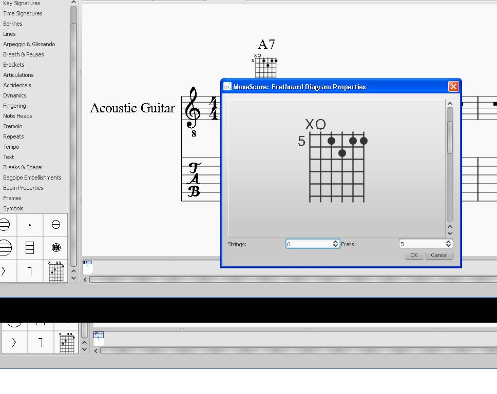 Guitar Fretboard Diagrams Musescore