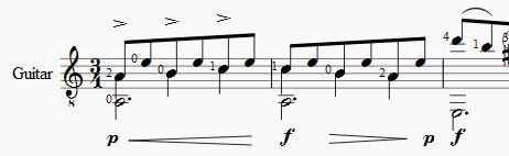 Voorbeeld correcte notatie voor afspelen