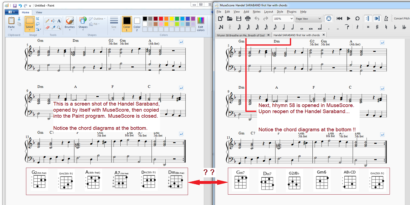 Png images wander into other scores or disappear musescore changed chords hexwebz Image collections