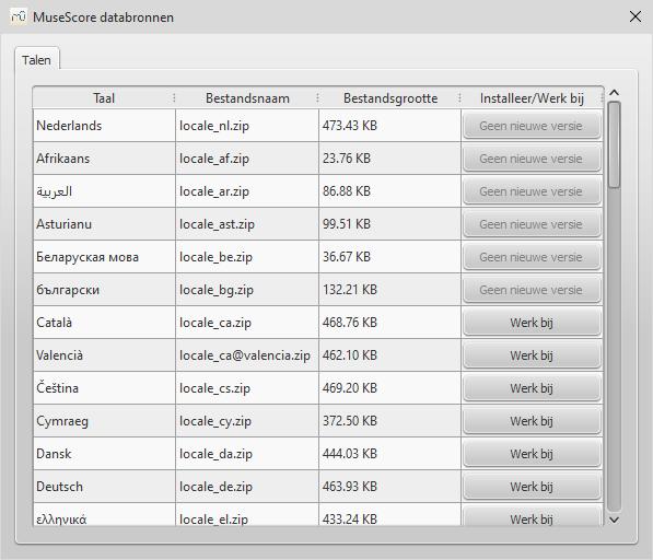 Dialoog: Help / Databronnen-beheer...