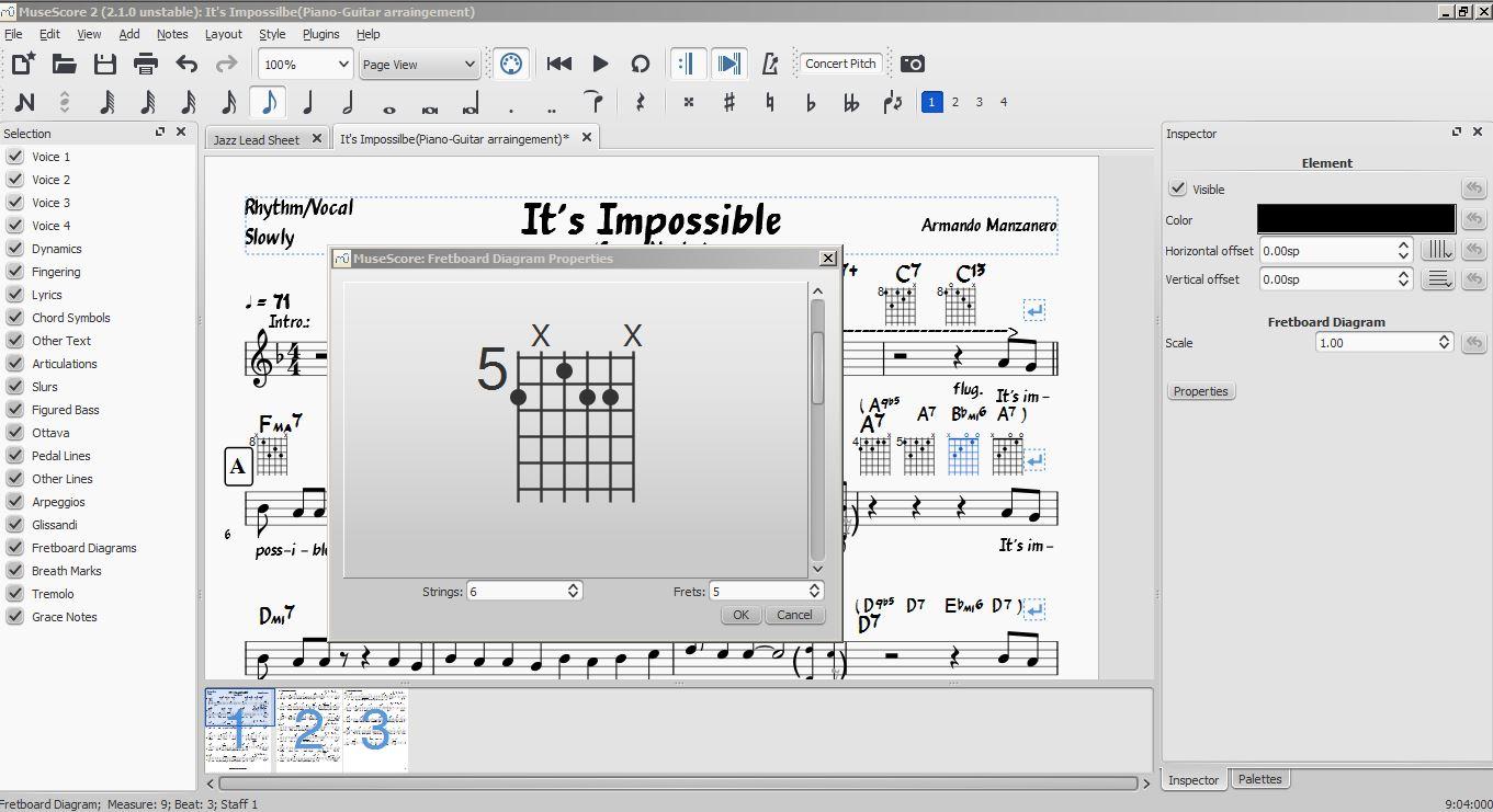 Entering Chord Diagrams Musescore Open Diagram Fretboard