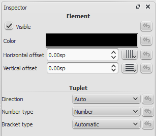 Tuplet Properties in Inspector