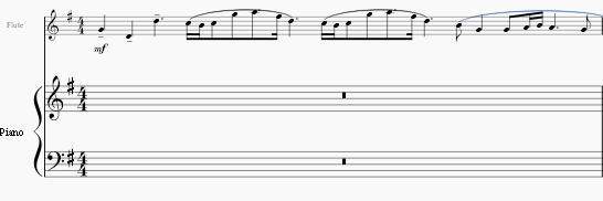 how to delete one measure in musescore
