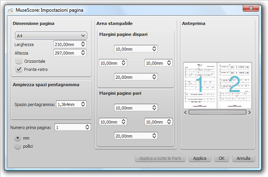 Dialog: Layout / Page Settings...
