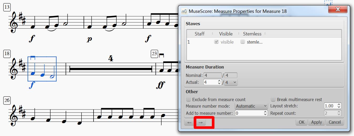 Musescore multi measure rest