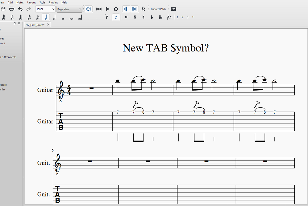 Master Palette And Tab Musescore