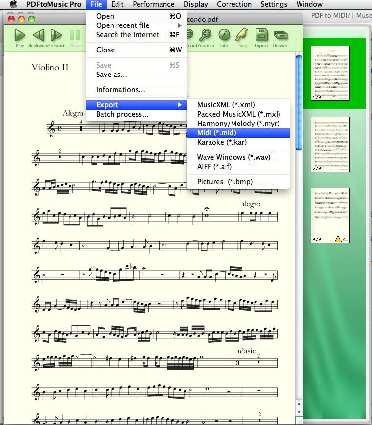 PDF to MIDI? | MuseScore