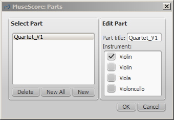how to add more parts musescore