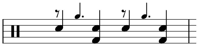 Rhythmic slash - percussion