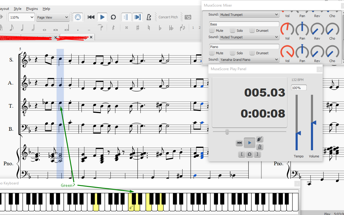Virtual Piano Keyboard: Parts & Colors | MuseScore