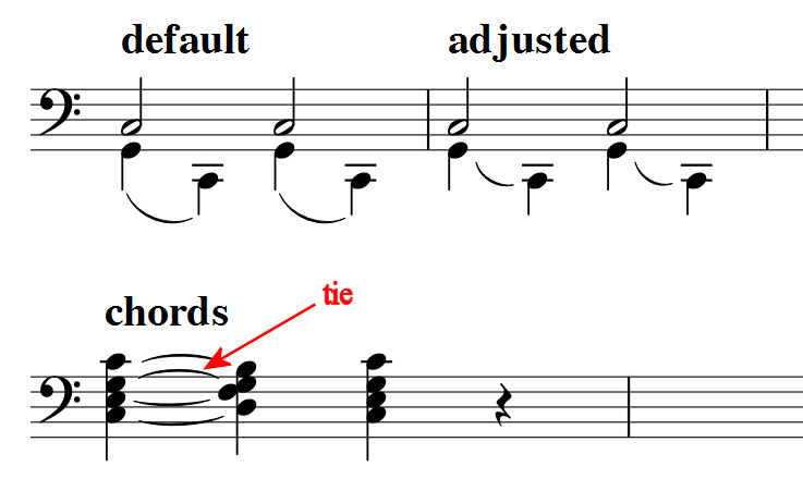 Slurs Between Two Note Heads Musescore
