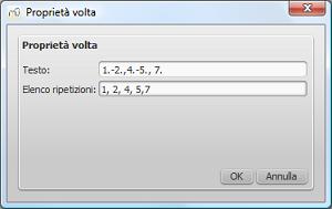 Volta Properties dialog
