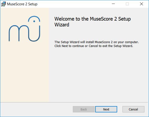 Tervetuloa MuseScore 2:een asennusavustaja