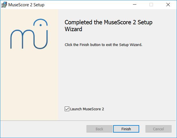 MuseScore 2 Asennusavustaja valmistunut