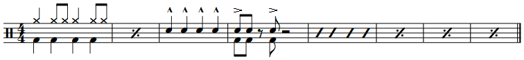 Drum notation - continue groove   MuseScore
