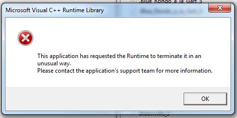 Visual C++ Runtime Error | MuseScore