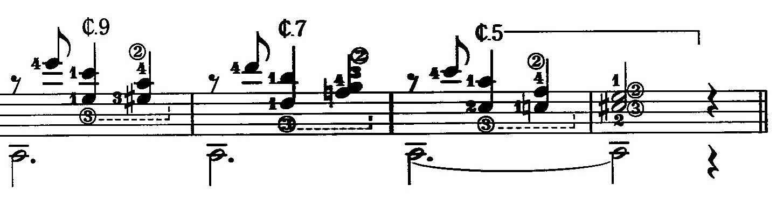 Small Bar Chords Notation Musescore