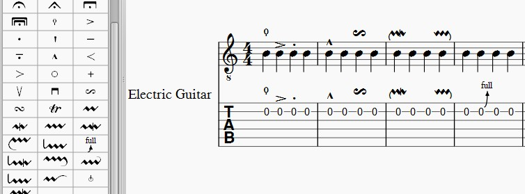 Create A Bend Or Slide Symbol For Guitar Musescore