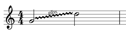 how to add glissando in musescore