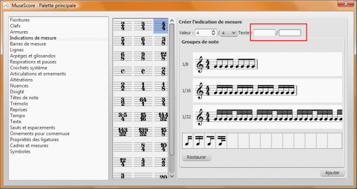 how to change time signature in musescore