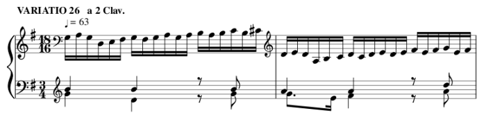 Bach's 26. Goldberg Variation
