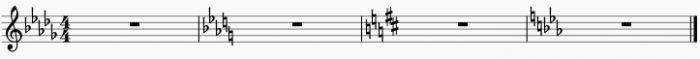Naturals before and after key signature