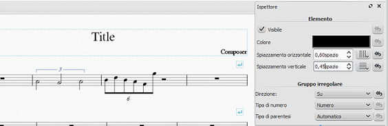 Tuplet offset values in Inspector