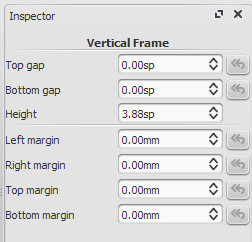 Inspector for vertical frame