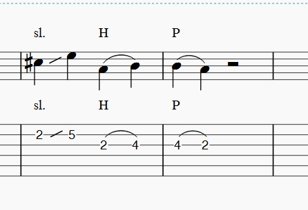 Hammer On Pull Off Musescore